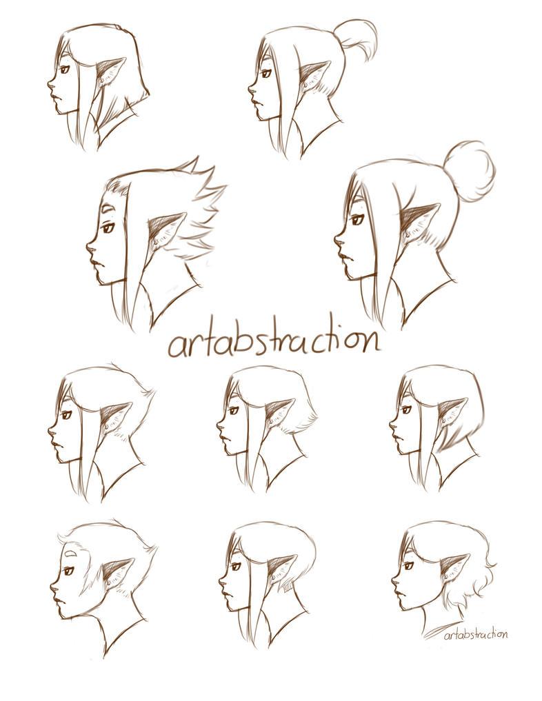 Ten Short Hairstyles by ARTabstraction on DeviantArt