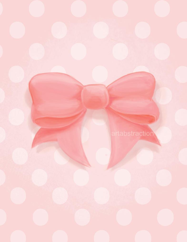 Pink Polka by ARTabstraction