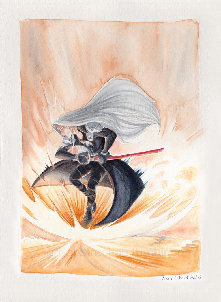 Sephiroth- Landing Hard by ARTabstraction