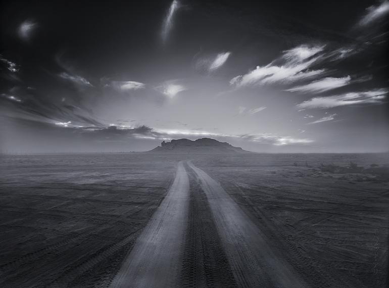 Way to the mountain ..