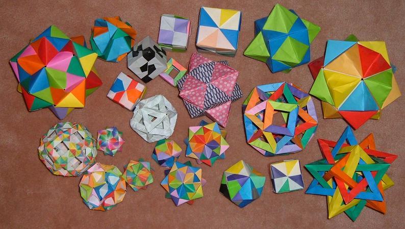 Various Modular Origami Balls By Sakura2814