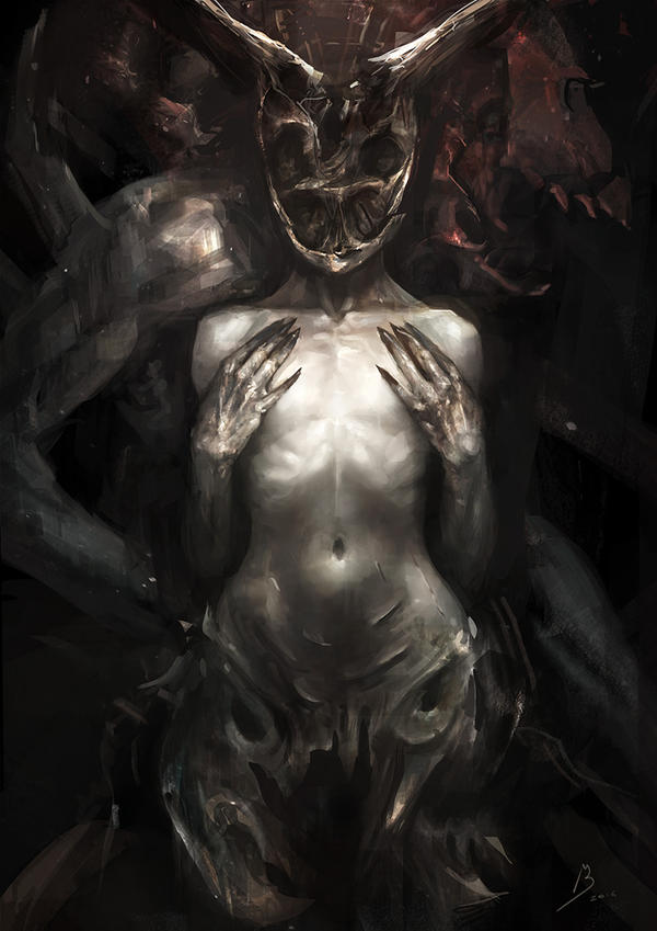 Skull Girl by BlackMalcerta