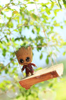 I am Groot - on a swing by Awesomealexis1