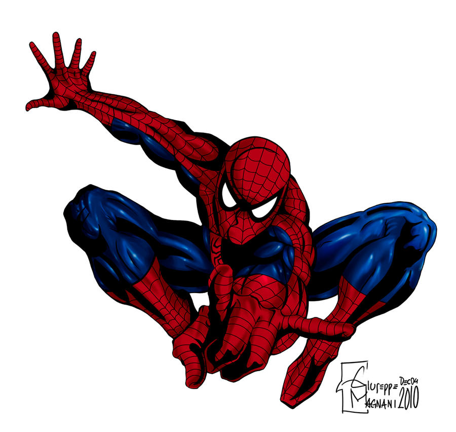 Spiderman Drawing Color Spiderman Colors Giu by