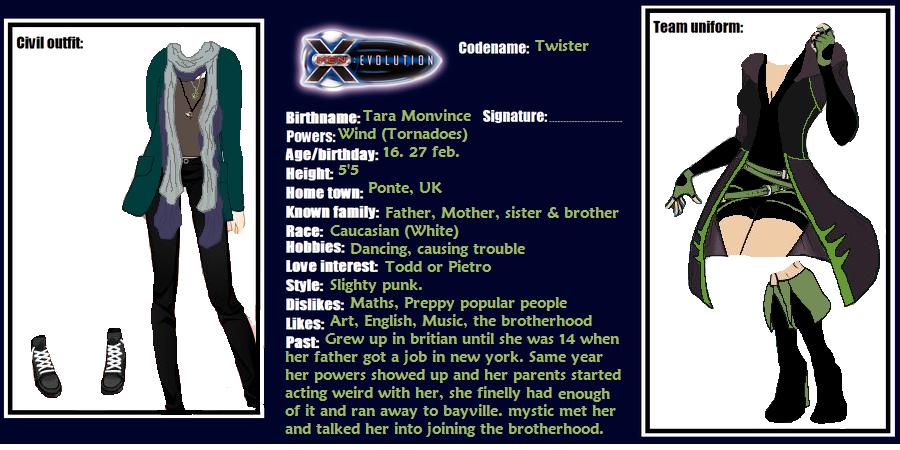 X Men Evolution Characters Profiles X-men evolution oc pro...