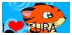 'I LOVE PURA' stamp by Frida-Cat