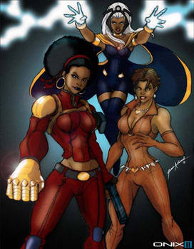 Misty Knight, Vixen, and Storm