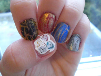 Hogwarts Nail Art By Singalongalways On Deviantart