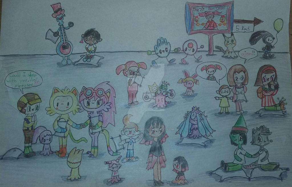 (Rqst Crossover) Pajama...Party? (with Mimikyus) by Nickquoland