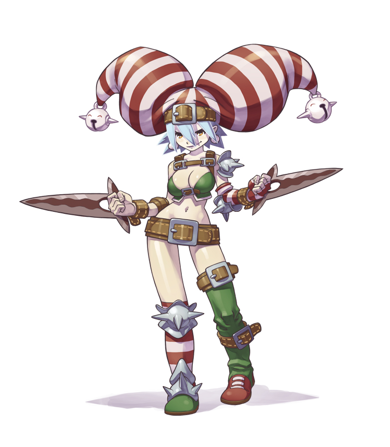 Anime girl fighting stance
