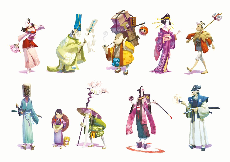 TOKAIDO characters by naiiade