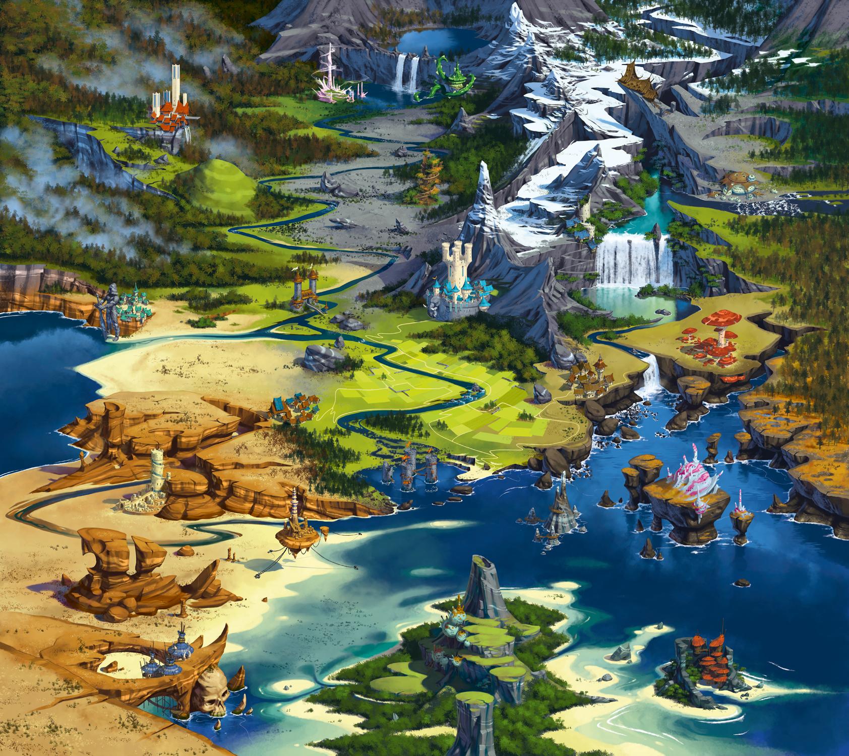 Galeria de Arte: Ficção & Fantasia 1 - Página 4 Lords_of_xidit_boardgame_by_naiiade-d7w464p