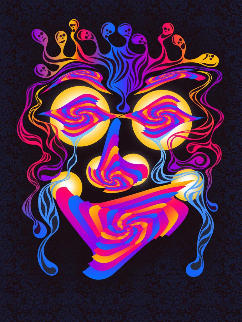 psychedelic face by xxmurderdollxx on deviantart