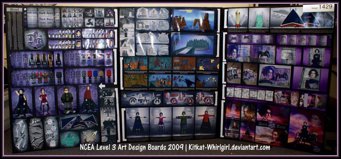 NCEA L3 Art Design Boards