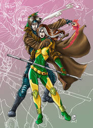 Rogue and Gambit by Ludi-Price