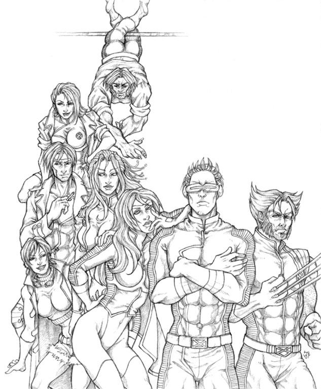 X men team alpha pencils by ludi price on deviantart for X men coloring pages