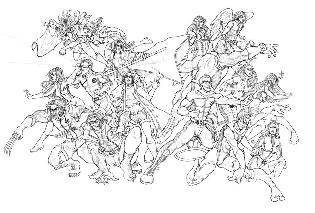 X men au hero shot by ludi price on deviantart for X men coloring pages