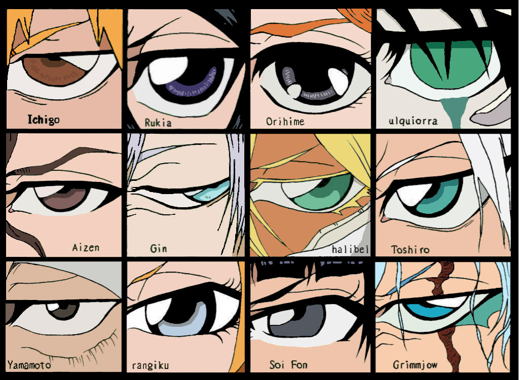 Anime Characters With 3 Eyes : Bleach character eyes by natsumi kasai on deviantart