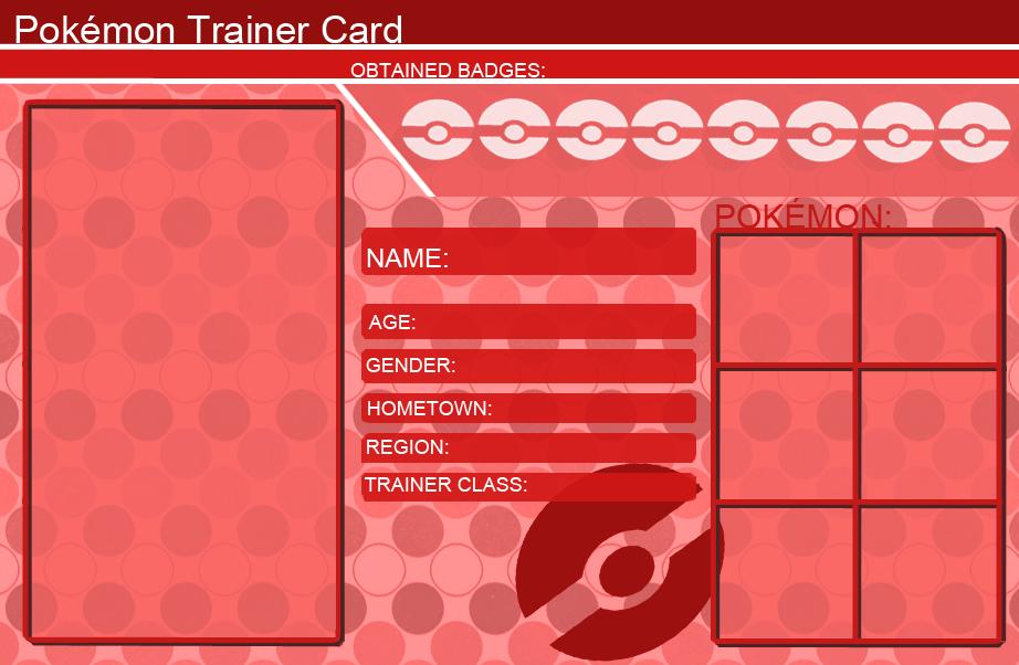 Pokemon Trainer Card Open Wallpaper Template By InnerMokaAkashiya On - Pokemon trainer card template