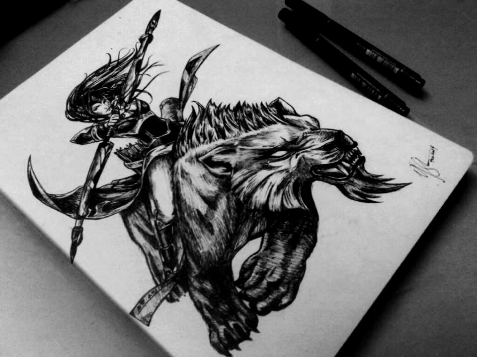 Dota2 Sketch - Mirana by azuremizt