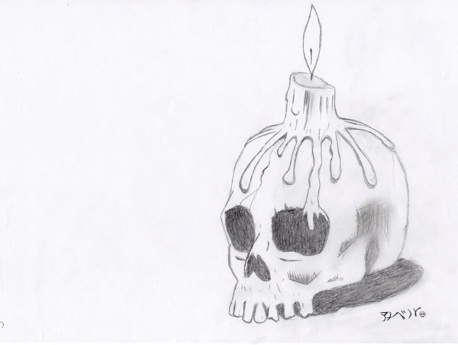 Skull candle by BittersweetBB