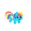 rainbow pixel by mykittyjasper