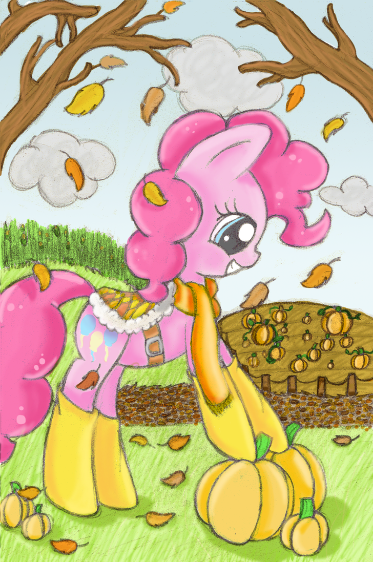 Pinkie In Autumn by mykittyjasper