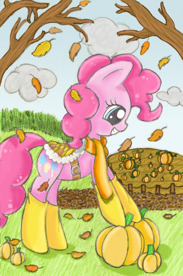 Pinkie In Autumn by mykittyjasper