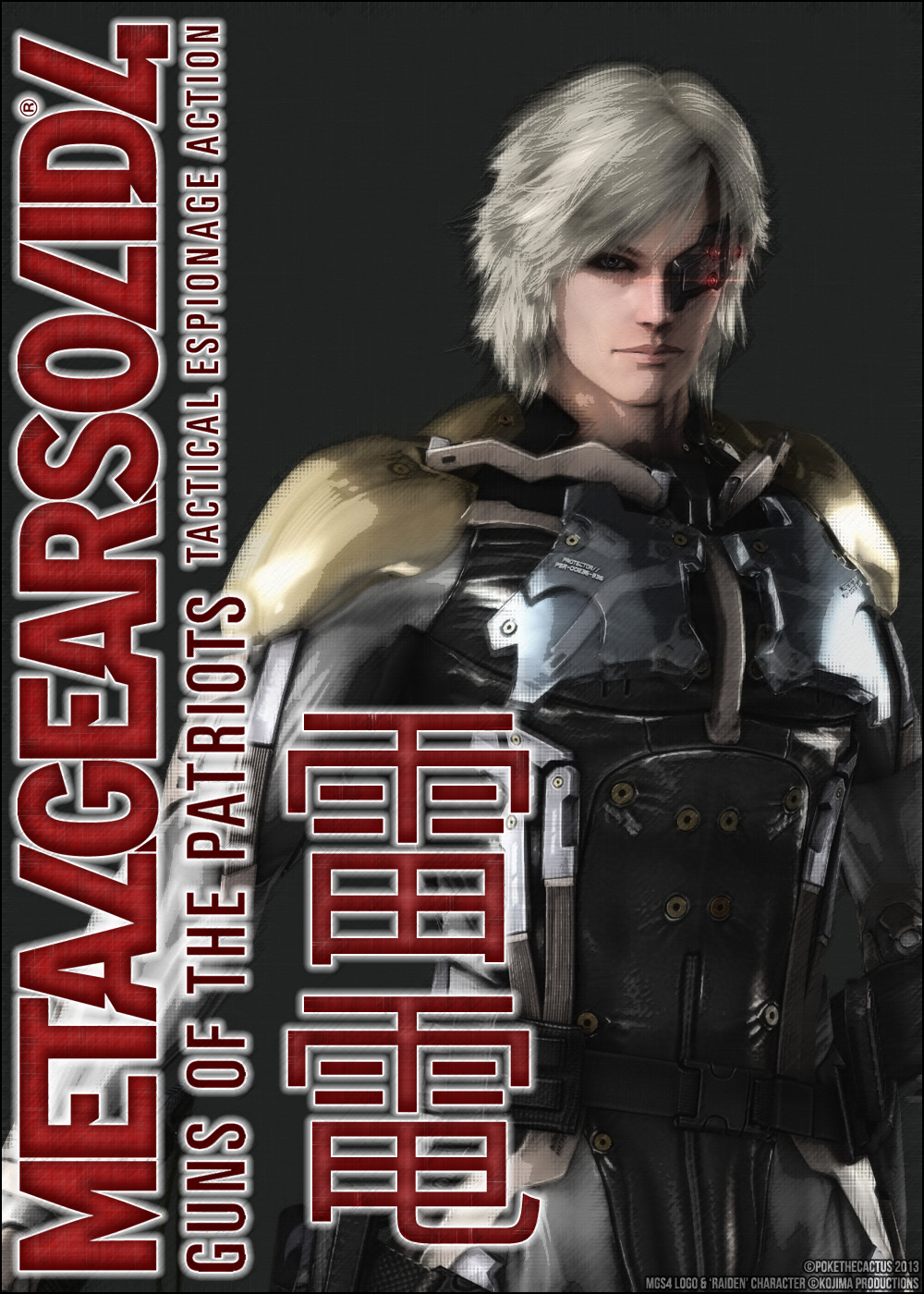 :: Raiden :: Guns Of The Patriots :: Poster :: by PokeTheCactus