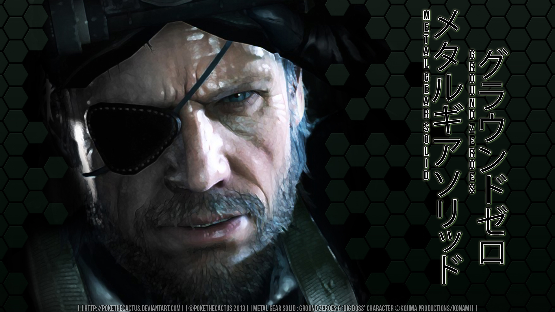 |:| GROUND ZEROES |:| Big Boss Wallpaper |:| by PokeTheCactus