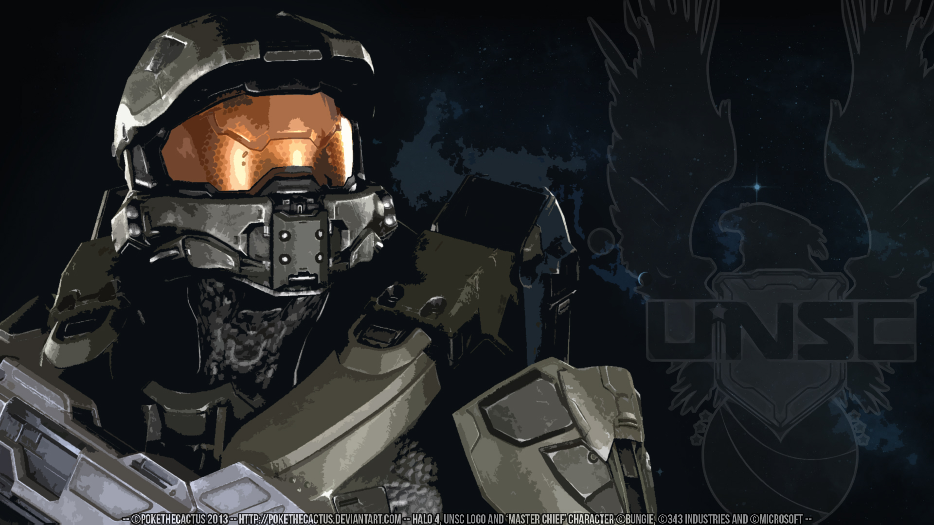 Halo 4 Master Chief Hd Wallpaper By Pokethecactus On