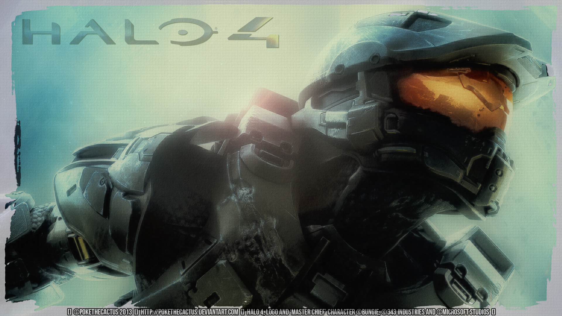 Halo 4 The Chief Wallpaper By Pokethecactus On