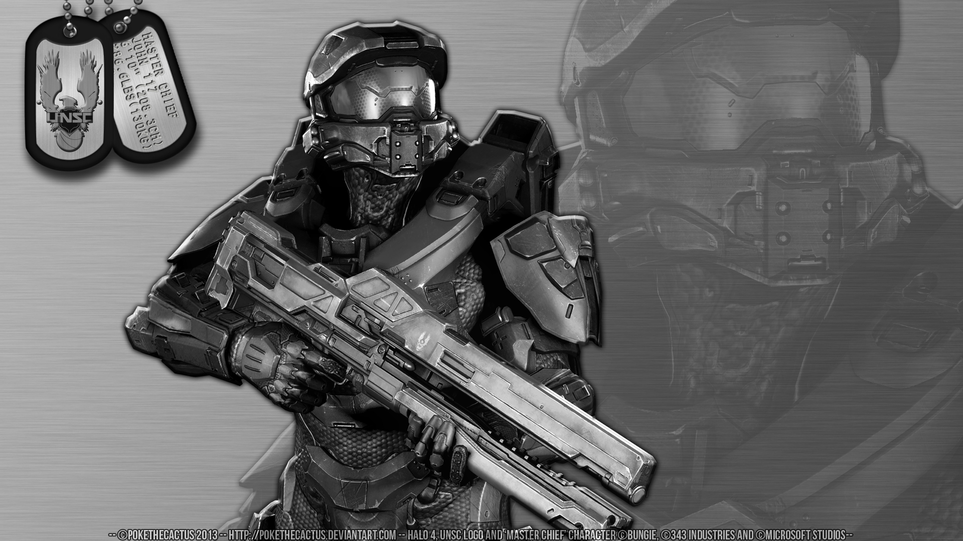Stainless Steel Master Chief Hd Wallpaper By Pokethecactus