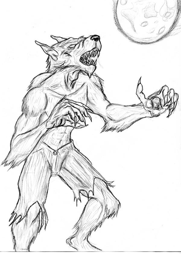 Scary werewolf drawings - photo#11