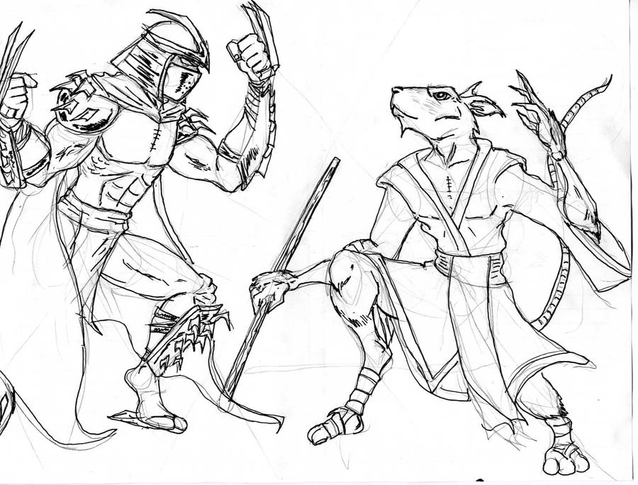 ninja turtle coloring pages splinter - photo #15