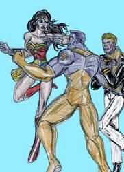Wonder Woman vs Major Force by theaven