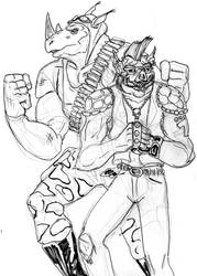 Bebop and Rocksteady 2 by theaven