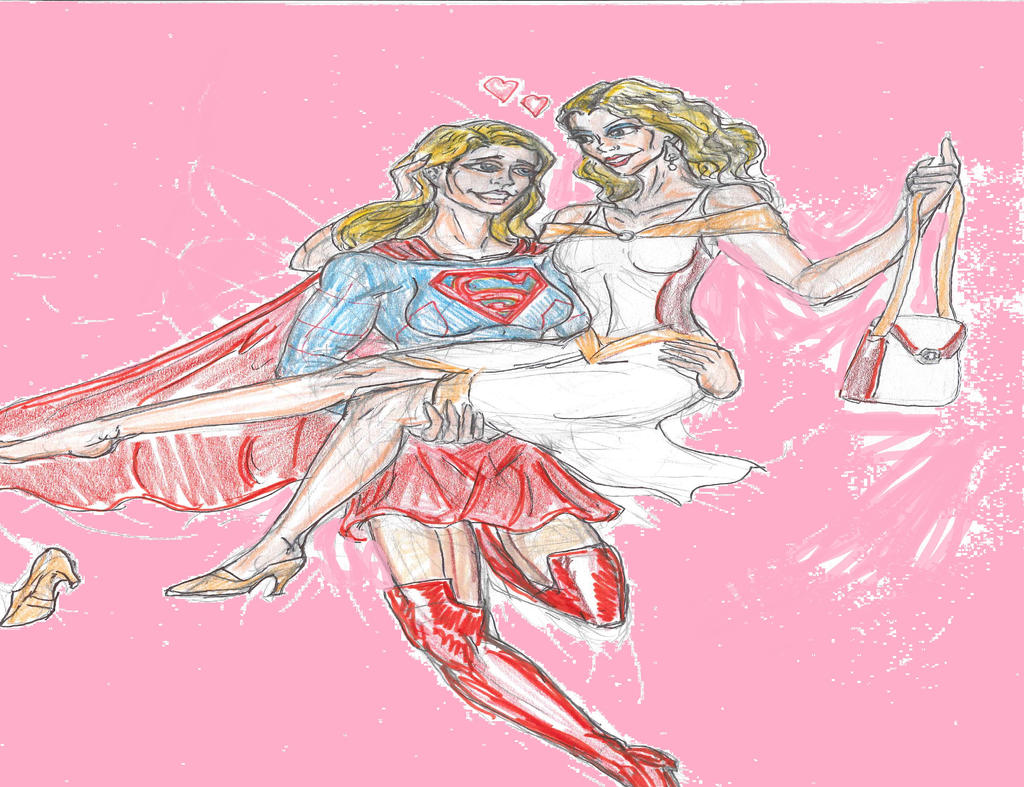 Supergirl  and Cat Grant by theaven