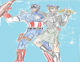 Cap and Sharon by theaven