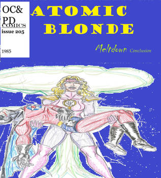 Atomic blonde comic cover by theaven