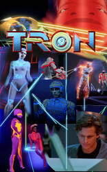 Tron movie poster by theaven
