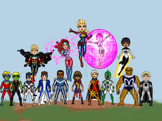Marvels Marvel family by theaven