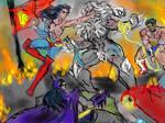 Earth-11s Trinity vs Doomsday by theaven