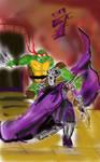 Raphael vs Shredder by theaven