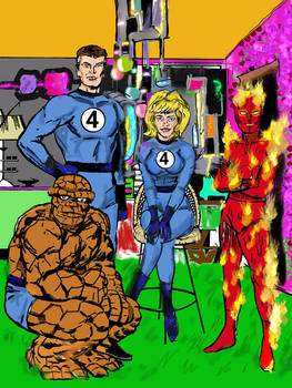 Fantastic four Kirby tribute