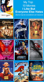 Top 10 movies I love but everyone else hates