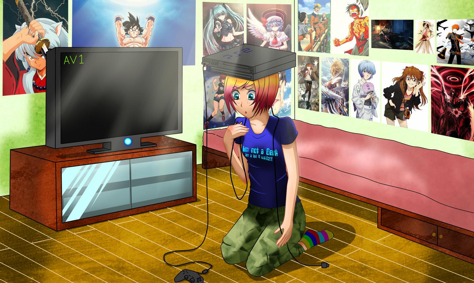 Comm Gamer Room by HeiBK201. Comm Gamer Room by HeiBK201 on DeviantArt