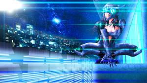 Cyberpunk girl 3 Wallpaper