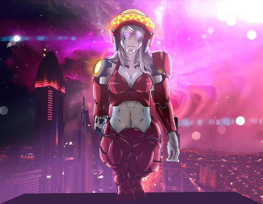 Cyberpunk girl 4 by HeiBK201