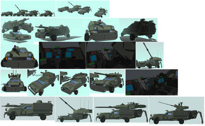 3d Sketchup:Ford Falcon Armored Division by HeiBK201